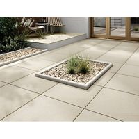 Marshalls Sawn Sandstone Smooth Buff Multi 600 x 600 x 22 mm Paving Slab