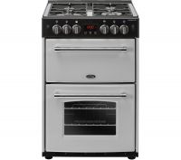 BELLING Farmhouse 60G Gas Cooker - Silver & Black, Silver