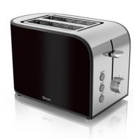 Swan ST17020BLKN 2 Slice Townhouse Toaster in Black Chrome