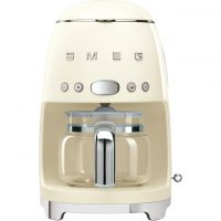 Smeg DCF02CRUK Filter Coffee Machine with Timer - Cream
