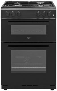 Bush BGC60TB 60cm Twin Cavity Gas Cooker - Black