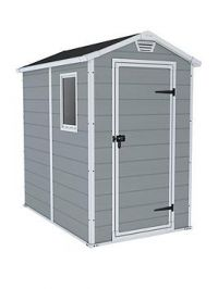 Keter 4X6 Ft Apex Manor Resin Garden Shed