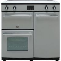 Belling Farmhouse90Ei 90cm Electric Range Cooker with Induction Hob - Silver - A/A Rated