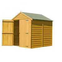Shire Shire 6' x 6' Overlap Apex Double Door Shed
