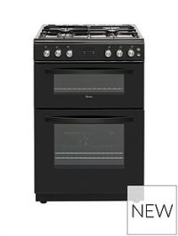 Swan SWAN SX15862B 60CM DOUBLE GAS COOKER BLACK