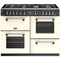 Stoves Richmond S1100G 110cm Gas Range Cooker with Electric Grill - Cream - A/A/A Rated