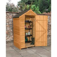 Forest Garden 4 x 3 ft Small Apex Overlap Dip Treated Windowless Shed