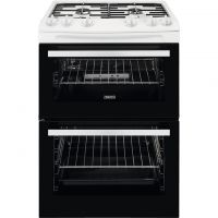 Zanussi ZCG63050WA 60cm Gas Cooker with Full Width Electric Grill - White - A/A Rated