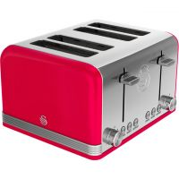 Swan Retro ST19020RN 4 Slice Toaster - Red