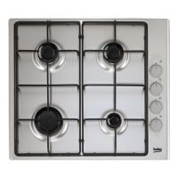 Beko CIHG21SX 60cm Built In 4 Burner Gas Hob in Stainless Steel