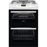 Zanussi ZCG63250WA 60cm Gas Cooker with Full Width Electric Grill - White - A/A Rated