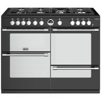 Stoves Sterling S1100G 110cm Gas Range Cooker with Electric Grill - Black - A/A/A Rated