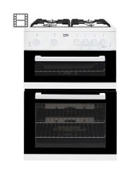 Beko KDG611W 60cm Gas Cooker with Full Width Gas Grill and Connection - White