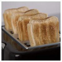Tower T20010 Essential 4 Slice Toaster Black