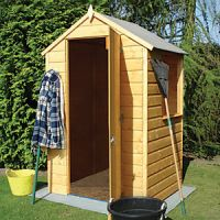 Shire Shiplap Timber Garden Storage Shed Brown - 4 x 4 ft