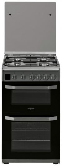 Hotpoint HD5G00CCX 50cm Double Oven Gas Cooker - S/Steel