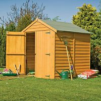Shire 6 x 6 ft Apex Overlap Double Door Windowless Shed