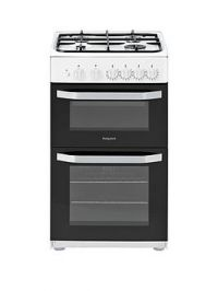 Hotpoint Hd5G00Kcw 50Cm Wide Gas Cooker With Grill - White