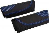 Halfords Black & Blue Dots Memory Foam Seat Belt Pads
