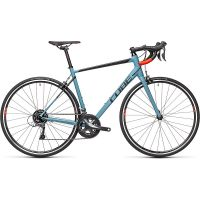 Cube Attain Road Bike 2021 - Greyblue - Red - 58cm (22.75