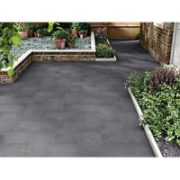 Marshalls Limestone Textured Black Multi Paving Slab 600 x 300 x 22 mm