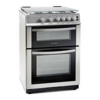 Montpellier MDG600LS 60cm Gas Cooker in Silver Double Oven FSD
