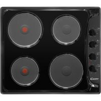Candy PLE64N 58cm Solid Plate Hob - Black