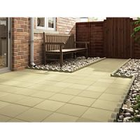 Marshalls Richmond Smooth Buff 450mm x 450mm x 32mm Paving Slab