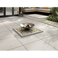 Marshalls Sawn Sandstone Smooth Grey Multi 600 x 600 x 22 mm Paving Slab