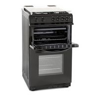 Montpellier MDG500LK 50cm Gas Cooker in Black Double Oven FSD