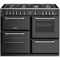 Stoves Richmond S1100G 110cm Gas Range Cooker with Electric Grill - Black - A/A/A Rated
