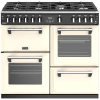 Stoves Richmond Deluxe S1000G 100cm Gas Range Cooker with Electric Grill - Cream - A/A/A Rated