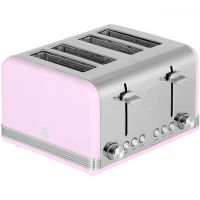 Swan Retro ST19020PN 4 Slice Toaster - Pink