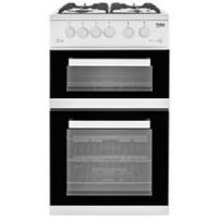 Beko KDVG592W 50cm Double Oven Gas Cooker - White