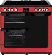 Newworld Vision 90E 90cm Electric Range Cooker with Ceramic Hob - Red - A/A Rated