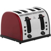 Russell Hobbs Legacy 4 Slice Polished 21301 4 Slice Toaster - Red