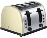 Russell Hobbs Legacy 4 Slice Polished 21302 4 Slice Toaster - Cream