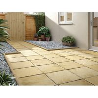 Marshalls Pendle Riven Buff 450 x 450 x 32 mm Paving Slab