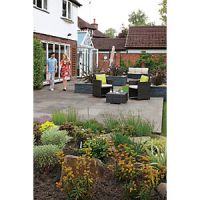 Marshalls Indian Sandstone Riven Grey Mixed Size Paving - 15.23 m2 pack