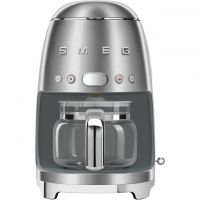 Smeg 50's Retro DCF02SSUK Filter Coffee Machine with Timer - Stainless Steel