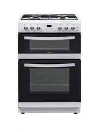 Swan Sx15890W 60Cm Wide Twin Cavity Gas Cooker - White
