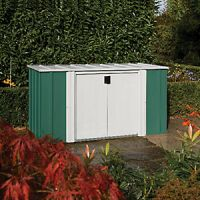 Rowlinson Double Door Metal Pent Shed - Without Floor - 8 x 4 ft