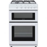 Electra BEF60TGW 60cm Gas Cooker with Gas Grill - White - A Rated