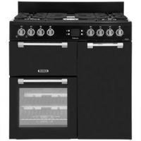 Leisure Cookmaster CK90G232K 90cm Gas Range Cooker with Electric Fan Oven - Black - A+/A Rated