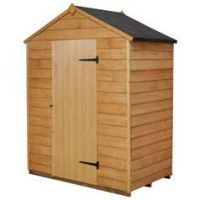 Forest Wooden 5 x 3ft Overlap Windowless Apex Shed