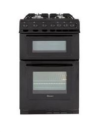 Swan SX2071B 50cm Wide Freestanding Twin Cavity Gas Cooker - Black