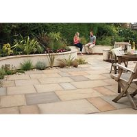 Marshalls Fairstone Riven Harena Golden Sand Mixed Size Paving Patio Pack - 15.25 m2