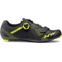 Northwave Storm Carbon Road Shoes 2019 - Black-Yellow Fluo - EU 45, Black-Yellow Fluo
