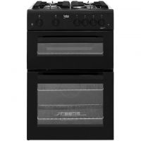 Beko KTG611K Gas Cooker with Full Width Gas Grill - Black - A+ Rated