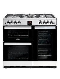 Belling 90G Cookcentre 90cm Gas Range Cooker with Optional Connection - Stainless Steel